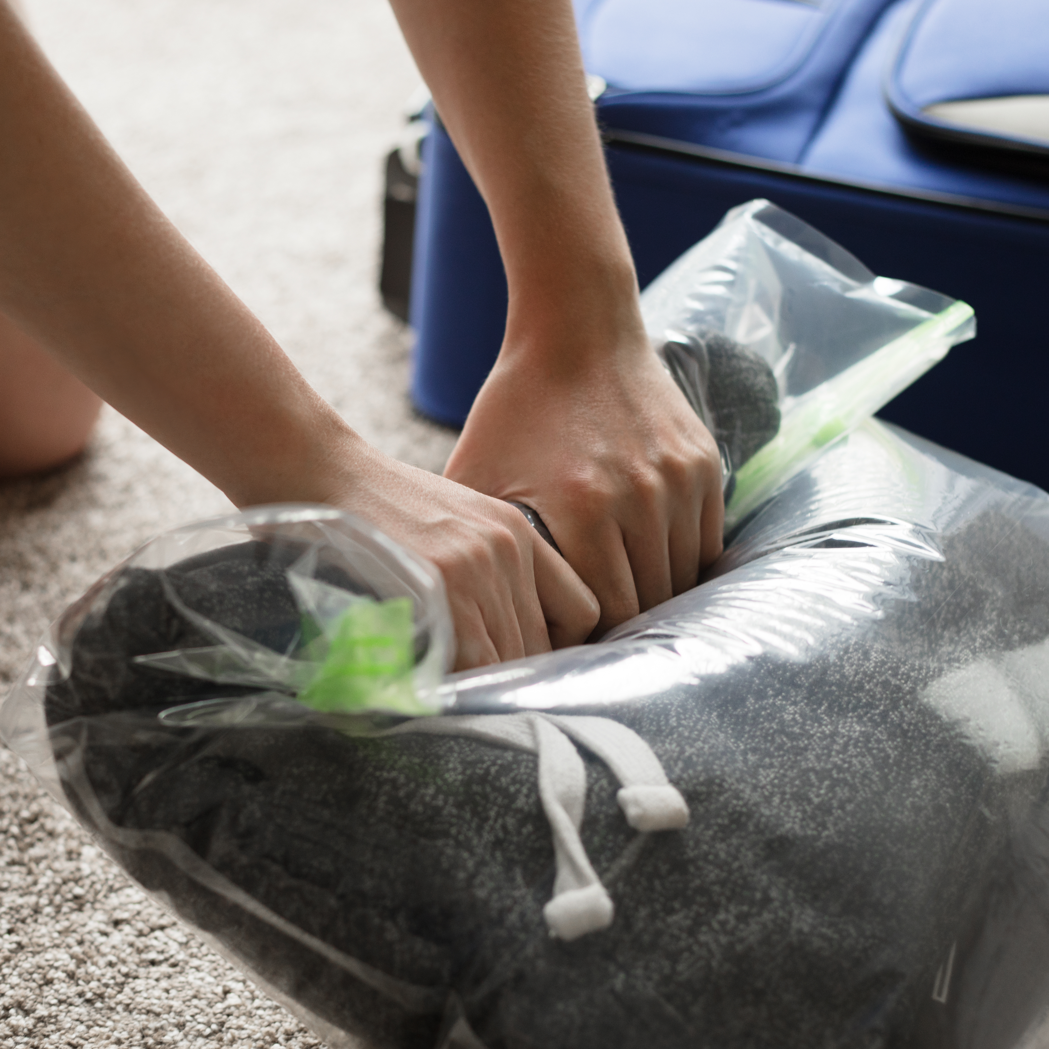 New Acrodo Space Saver Compression Bags 3 Pack For Packing And Hand Rolling Compressed Bag Storage No Vacuum Ziplock